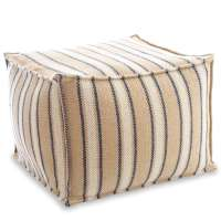 Cambridge Navy Indoor/Outdoor Pouf | Fresh American