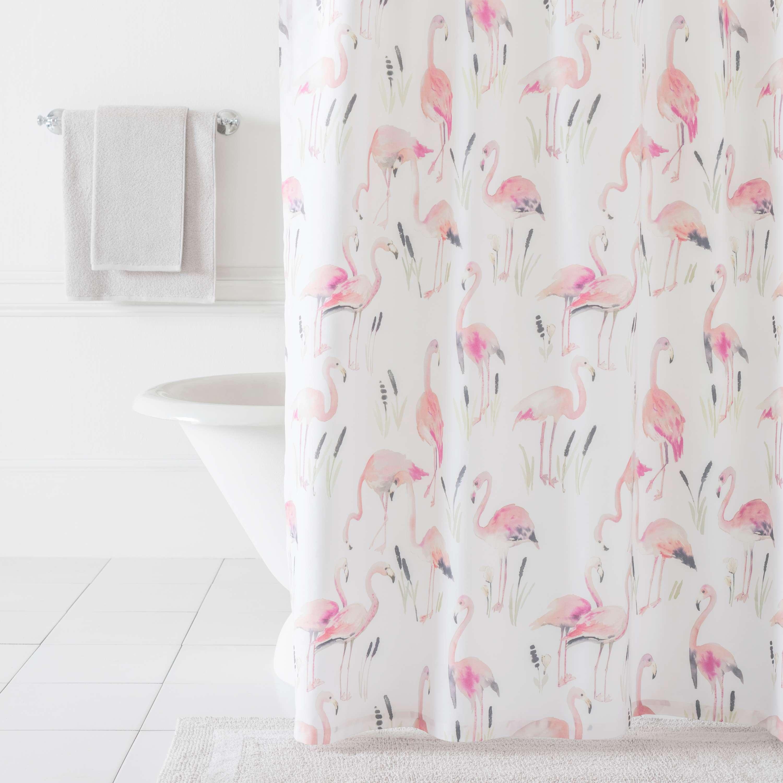 Flamingos Shower Curtain  Pine Cone Hill