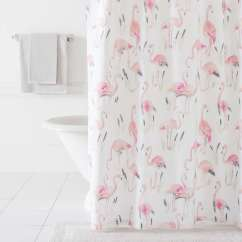 Kitchen Curtains Ideas Overstock Cabinets Flamingos Shower Curtain | Pine Cone Hill