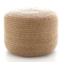 Braided Natural Indoor/Outdoor Pouf | Fresh American