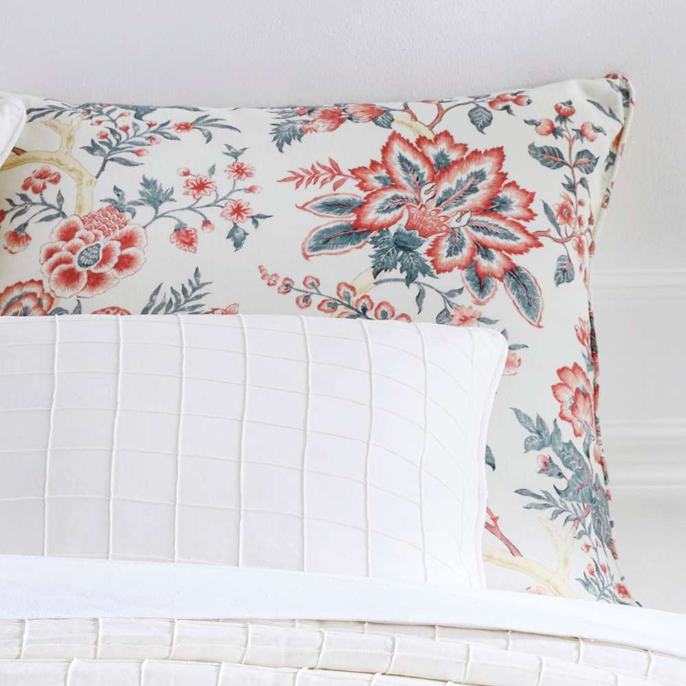 red pillow covers shams