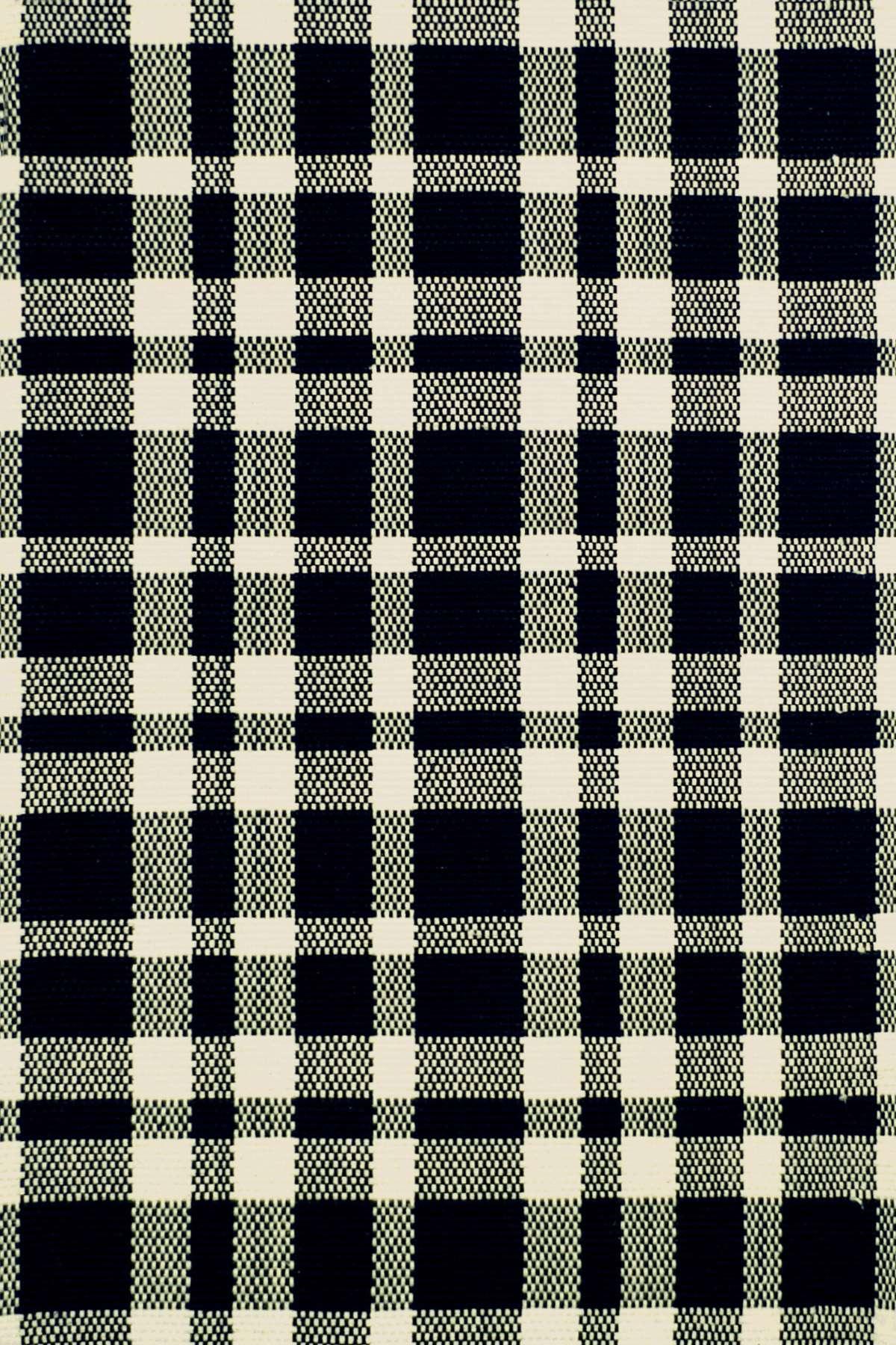 Tattersall BlackEcru Woven Cotton Rug  Dash  Albert