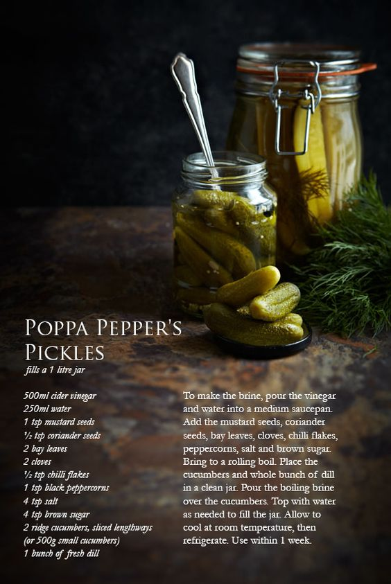 Pickled Cucumber recipes