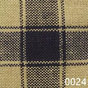 Navy Tea Dyed Housecheck Plaid Homespun Fabric