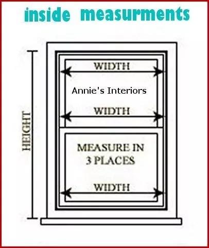 WINDOWS--measurments inside