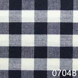 Black Cream Small Check Plaid Homespun Fabric