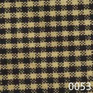 Black Tea Dyed Mini Check Plaid Homespun Fabric