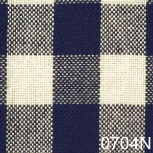 Navy Cream Small Check Plaid Homespun Fabric
