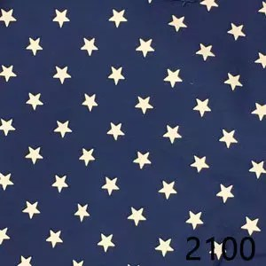 Navy Star Homespun Fabric