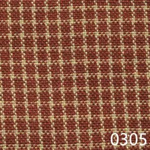Red Tea Dyed Reverse Check Plaid Homespun Fabric