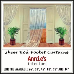 SHEER ROD POCKET CURTAINS