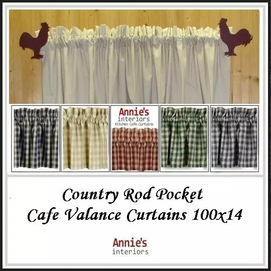Country-Rod-Pocket-Cafe-Valance-Curtains-100×14
