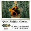 ruffled curtains green fabrics homespun