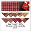 Red Country Prim Homespun Tablecloths