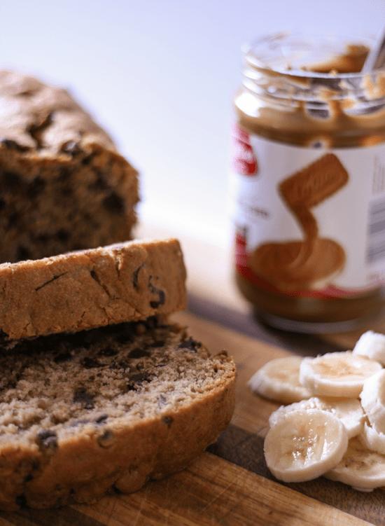 Chocolate Chip Biscoff Banana Bread