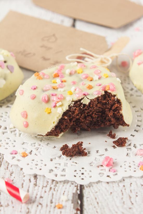 Valentine Brownie: Valentine Brownie Pops