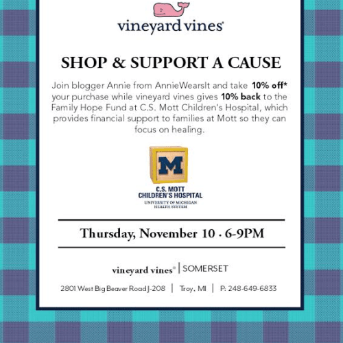 I'm Hosting a Charity Event with Vineyard Vines!!