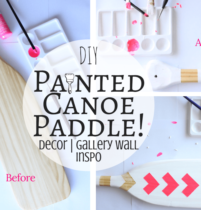 DIY Painted Canoe Paddle