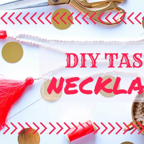 DIY Tassel Necklace Tutorial!