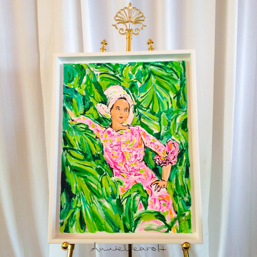 Original Lilly Pulitzer Painting Photographed by Annie Fairfax