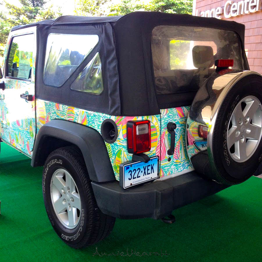 Lilly Pulitzer Jeep Photographed by Annie Fairfax