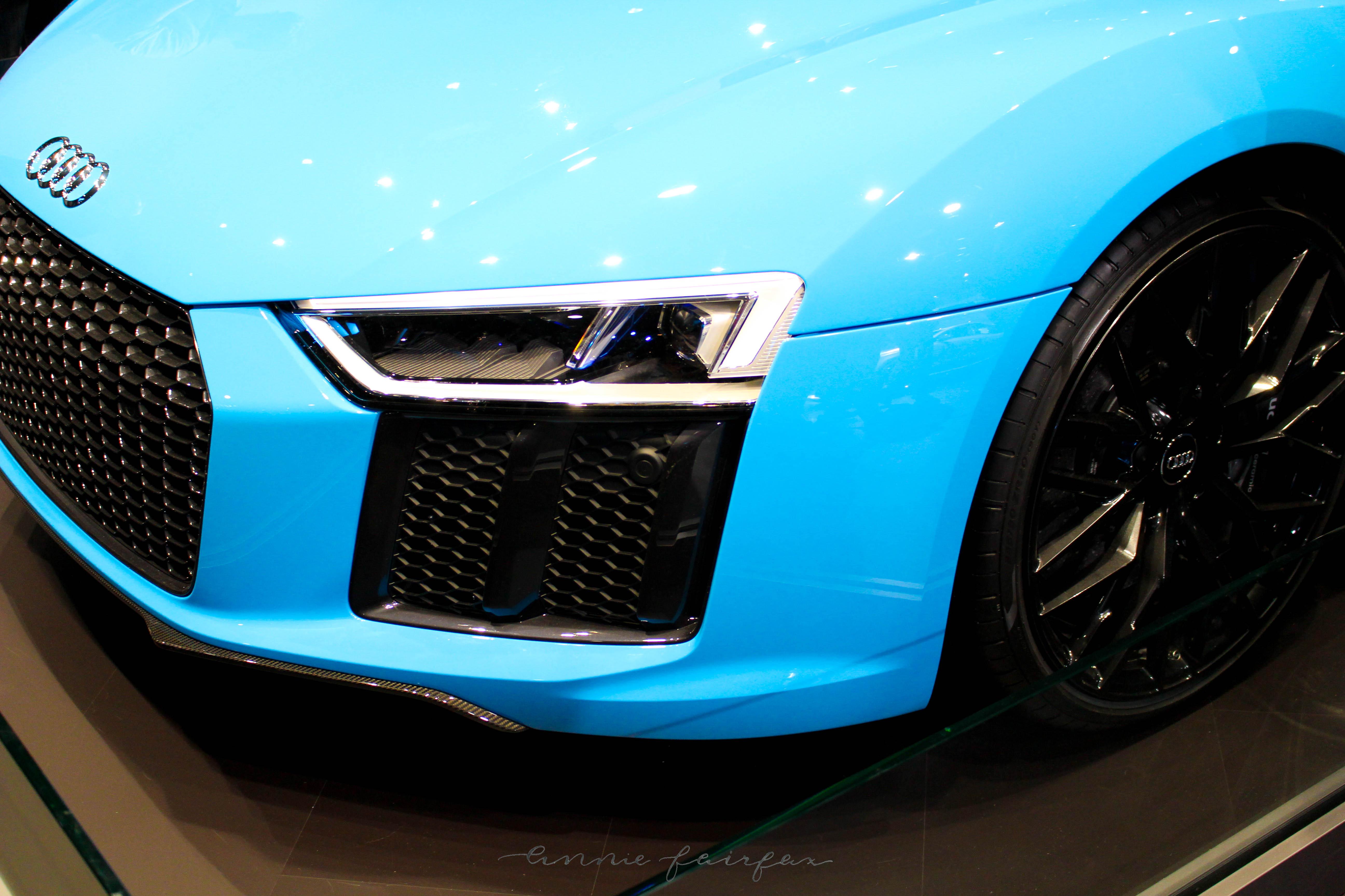 Sky Blue Audi Camel Leather via AnnieWearsIt.com