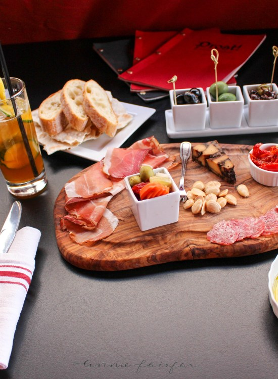 Charcuterie Board from Prost in Frankenmuth, MI Tablescape