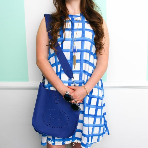 Blue & White Painted Sawyer Swing Dress