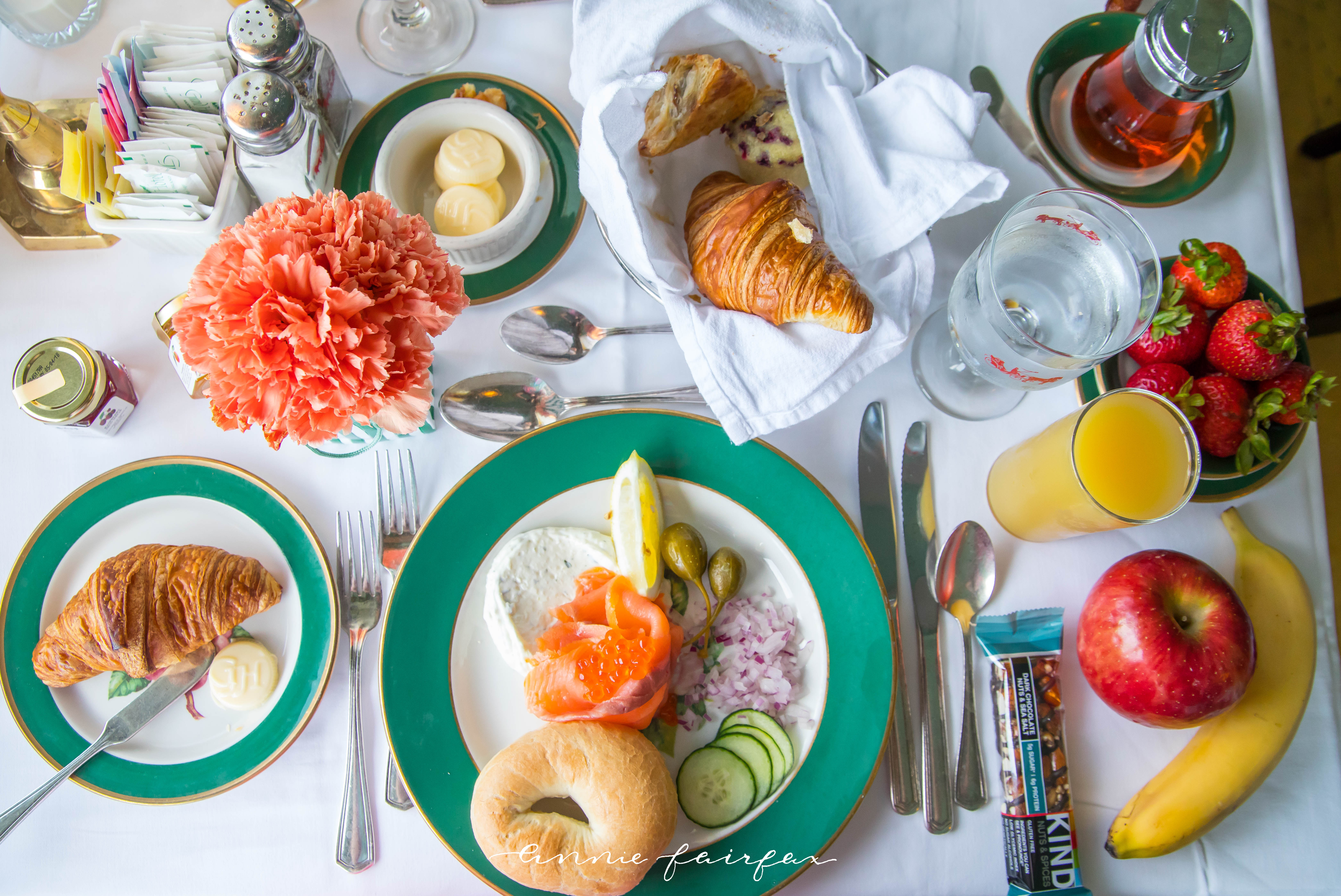 Breakfast Flatlay Spread Grand Hotel