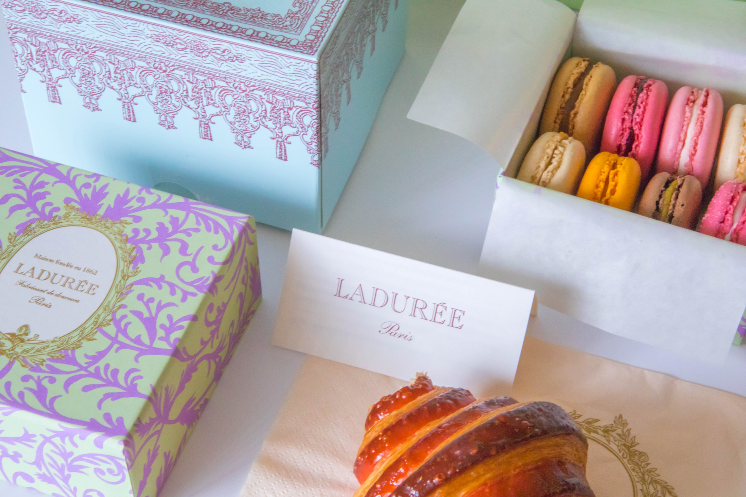 Laduree Macarons from Laduree Bakery in Soho New York City Paris