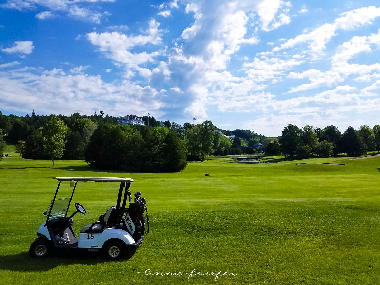 Golfing on the Jewel Golf Course Grand Hotel Mackinac Island Michigan Titleist Golf