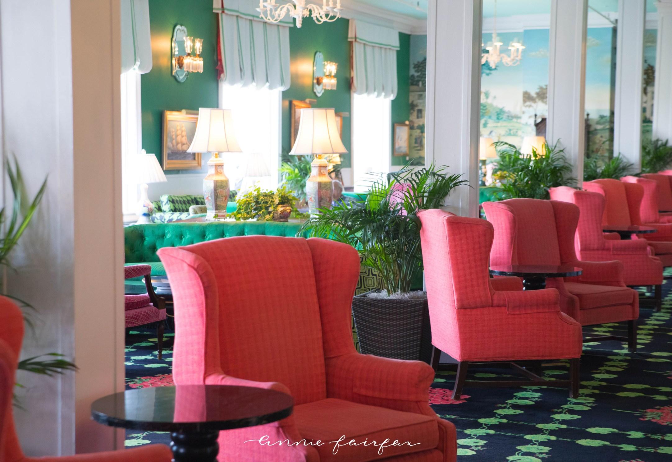 Lobby of the Grand Hotel on Mackinac Island