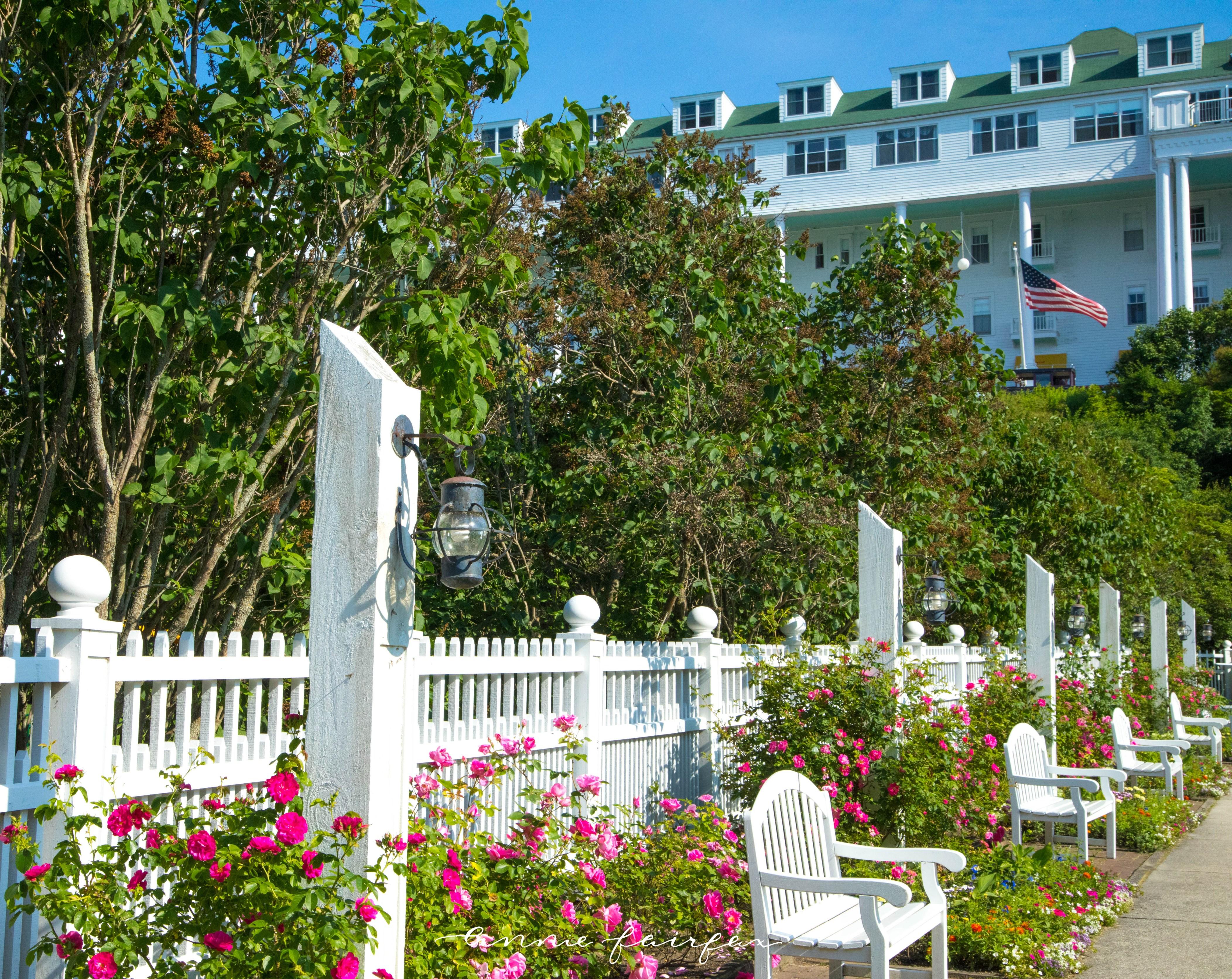 Grand Hotel Garden Mackinac Island Michigan