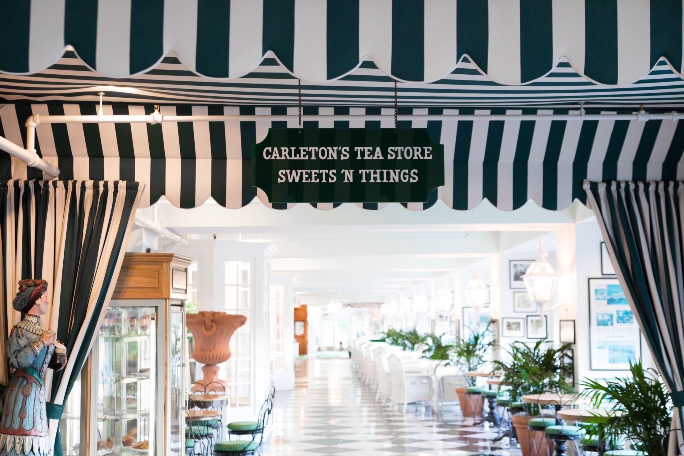 Carleton's Tea Store Shops inside Grand Hotel Mackinac island