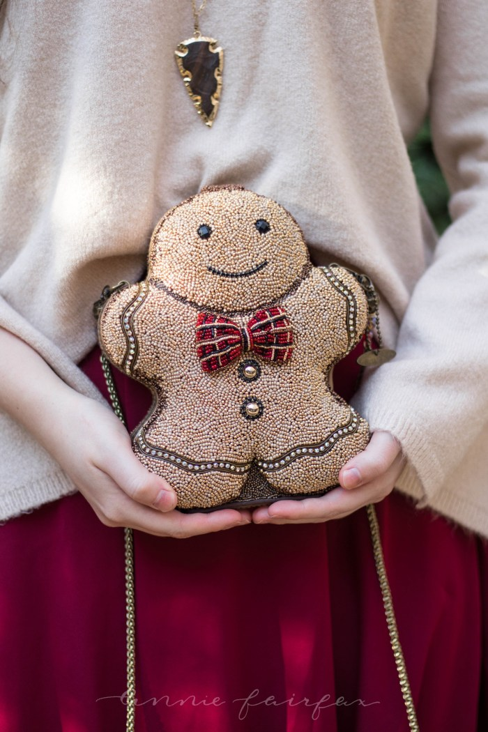 Mary Frances Gingerbread Man Handbag & What to Wear for the Holidays
