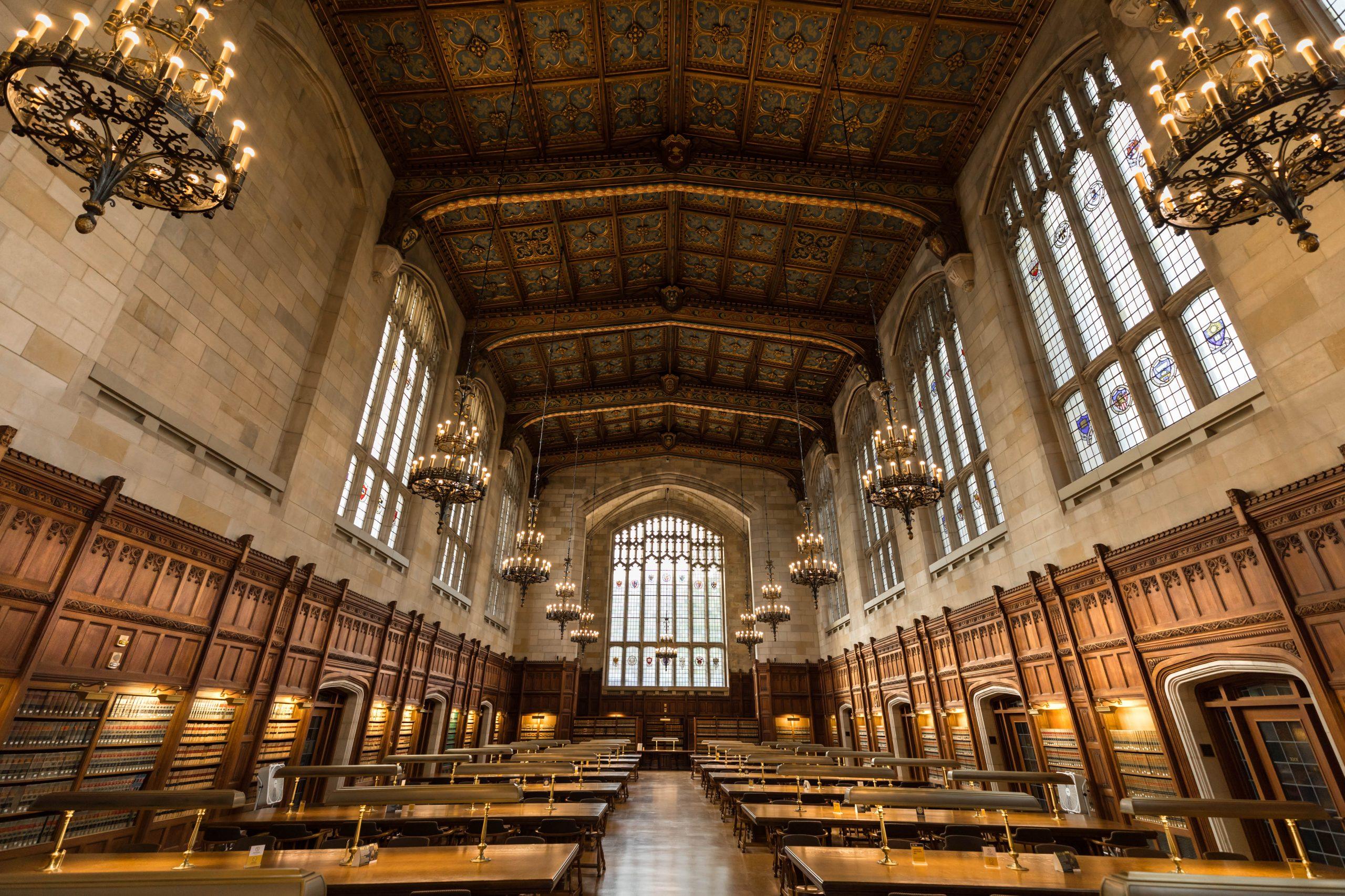 Ann Arbor University of Michigan Law Library by Annie Fairfax