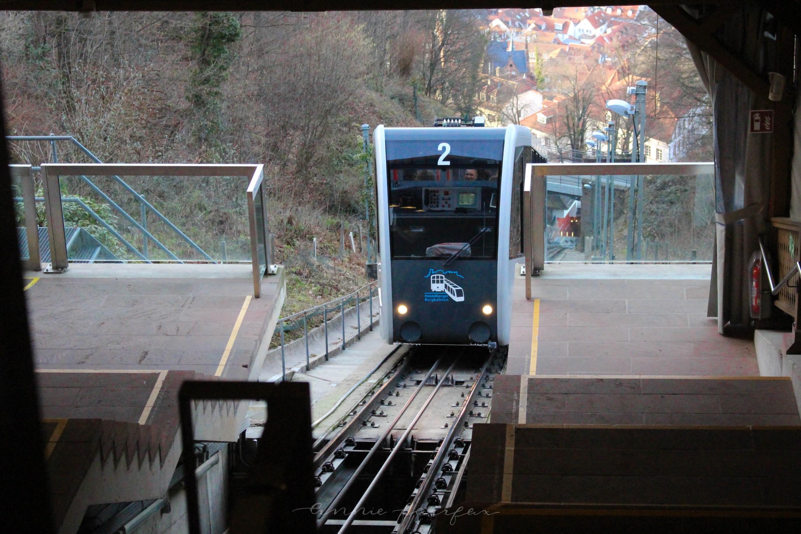 Konigstuhl in Heidelberg, Germany Tram
