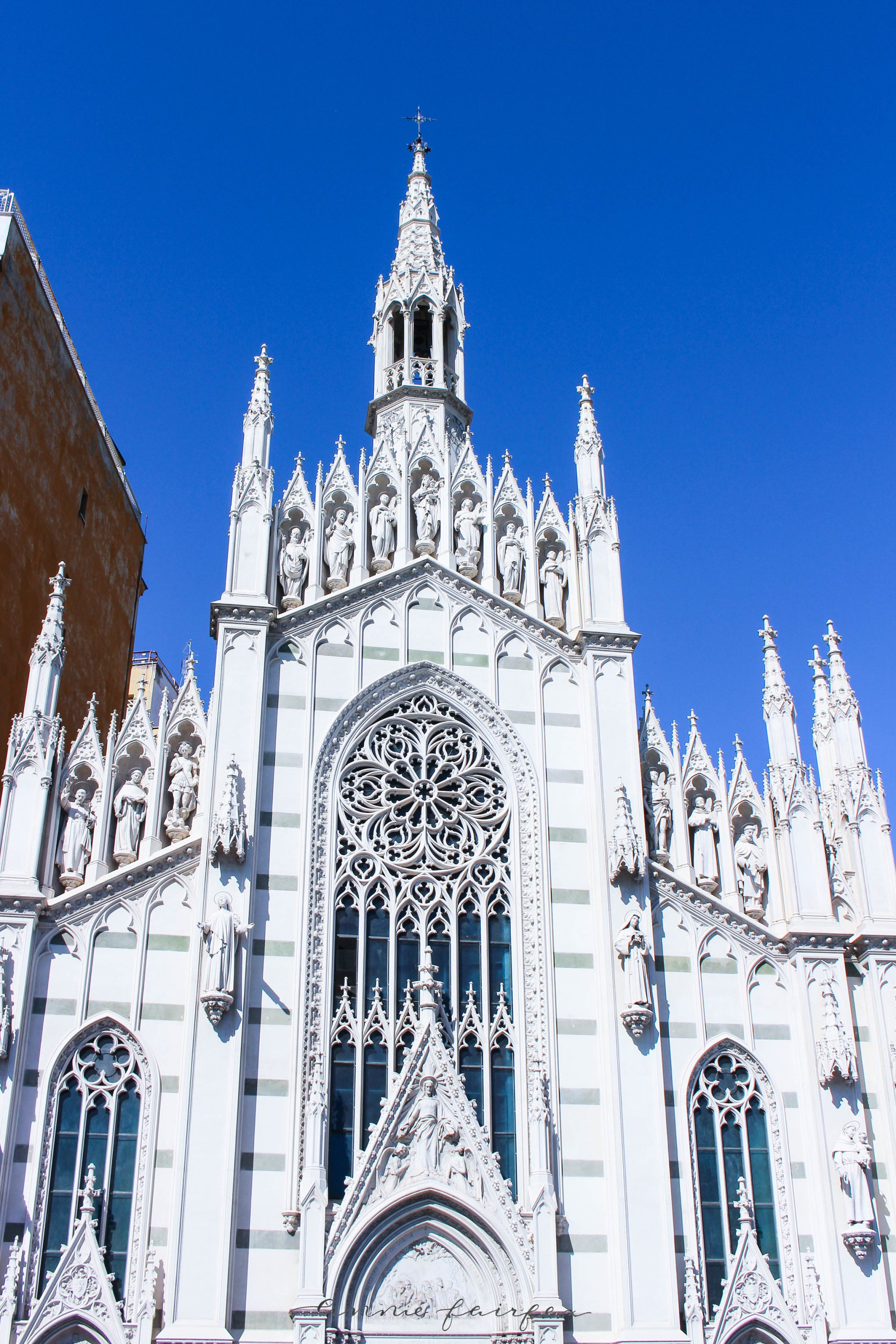 The Gothic Sacro Cuore del Suffragio Church in Rome: The Complete Traveler's Guide White Pointy Church