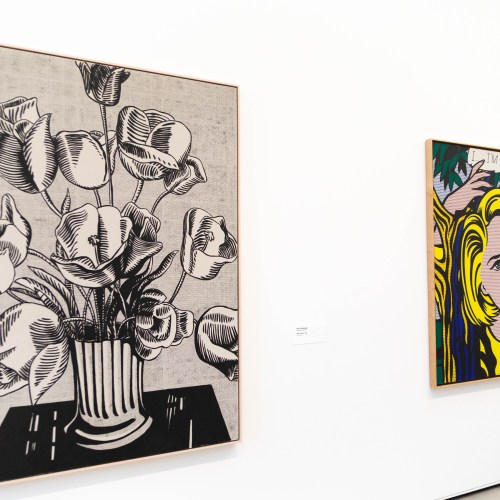 Black Flowers and I...I'm Sorry! by Roy Lichtenstein at The Broad Museum in Los Angeles