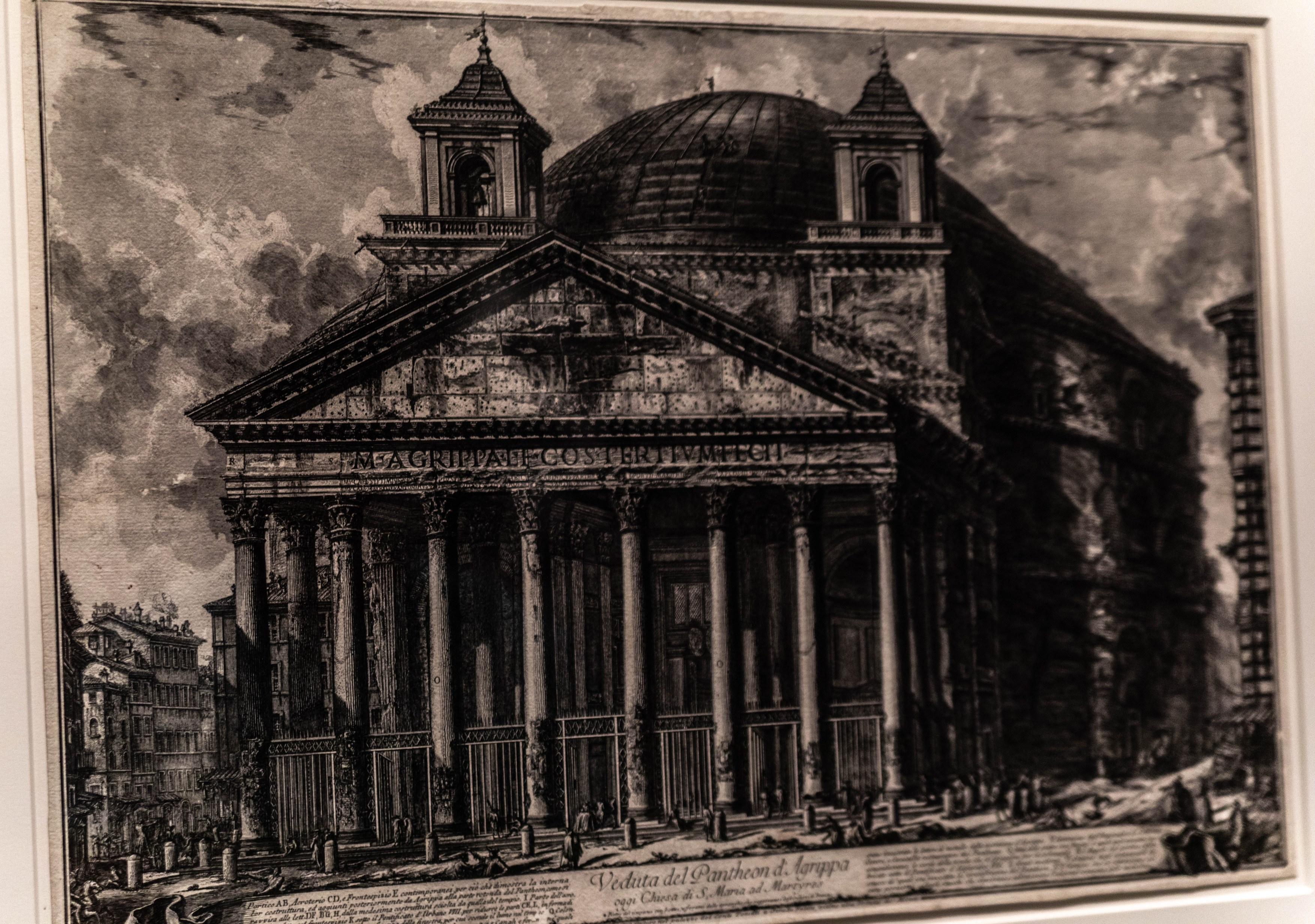 Drawing of the Pantheon at LACMA Los Angeles County Museum of Art