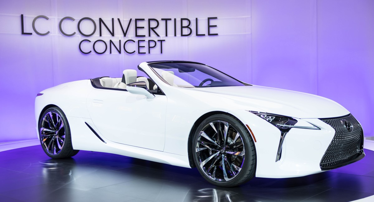 Unveiling the Lexus LC Luxury Convertible at NAIAS Detroit