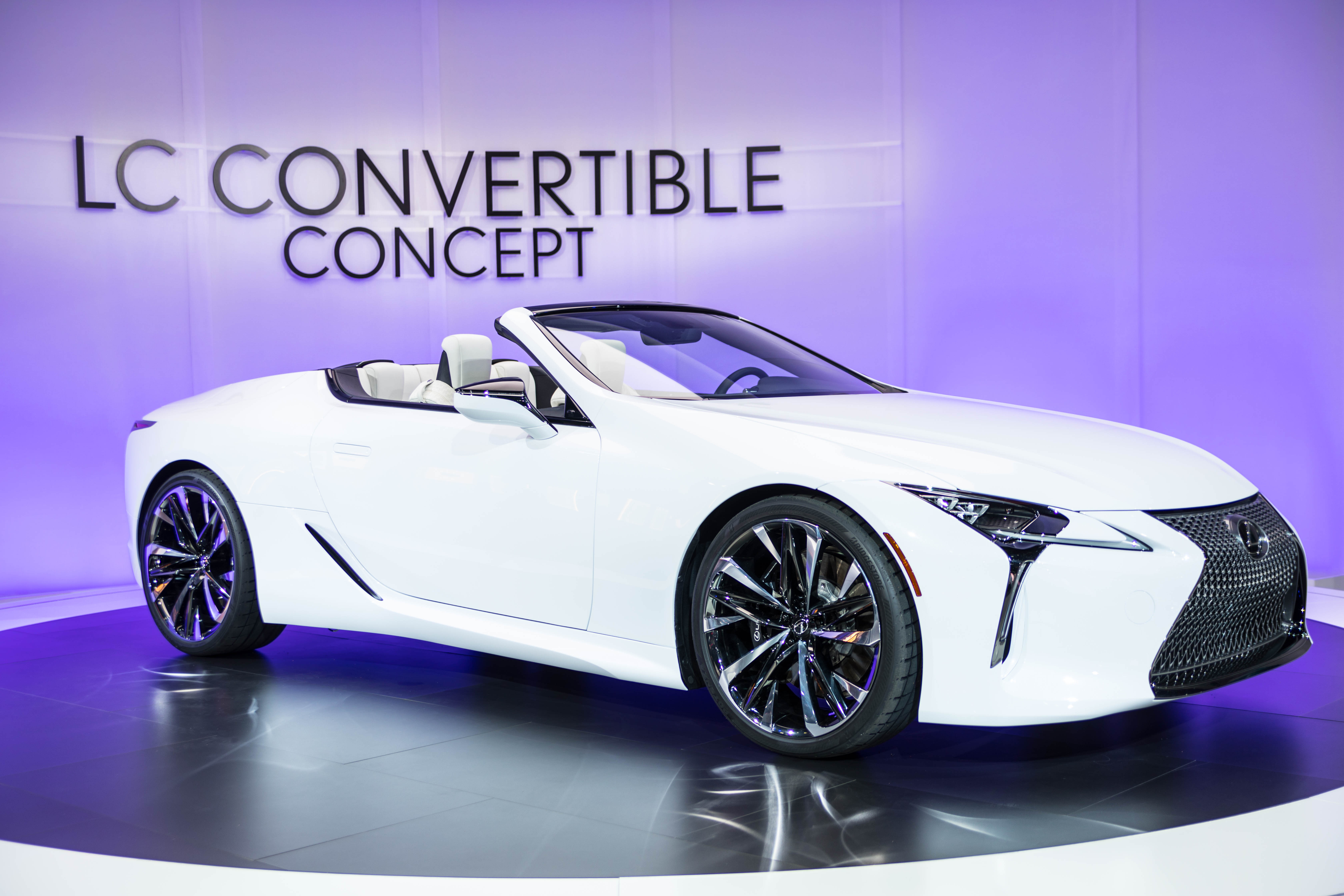 Lexus LC Convertible Luxury Car at Detroit's North American International Auto Show Press Preview Day NAIAS 2019 by Annie Fairfax
