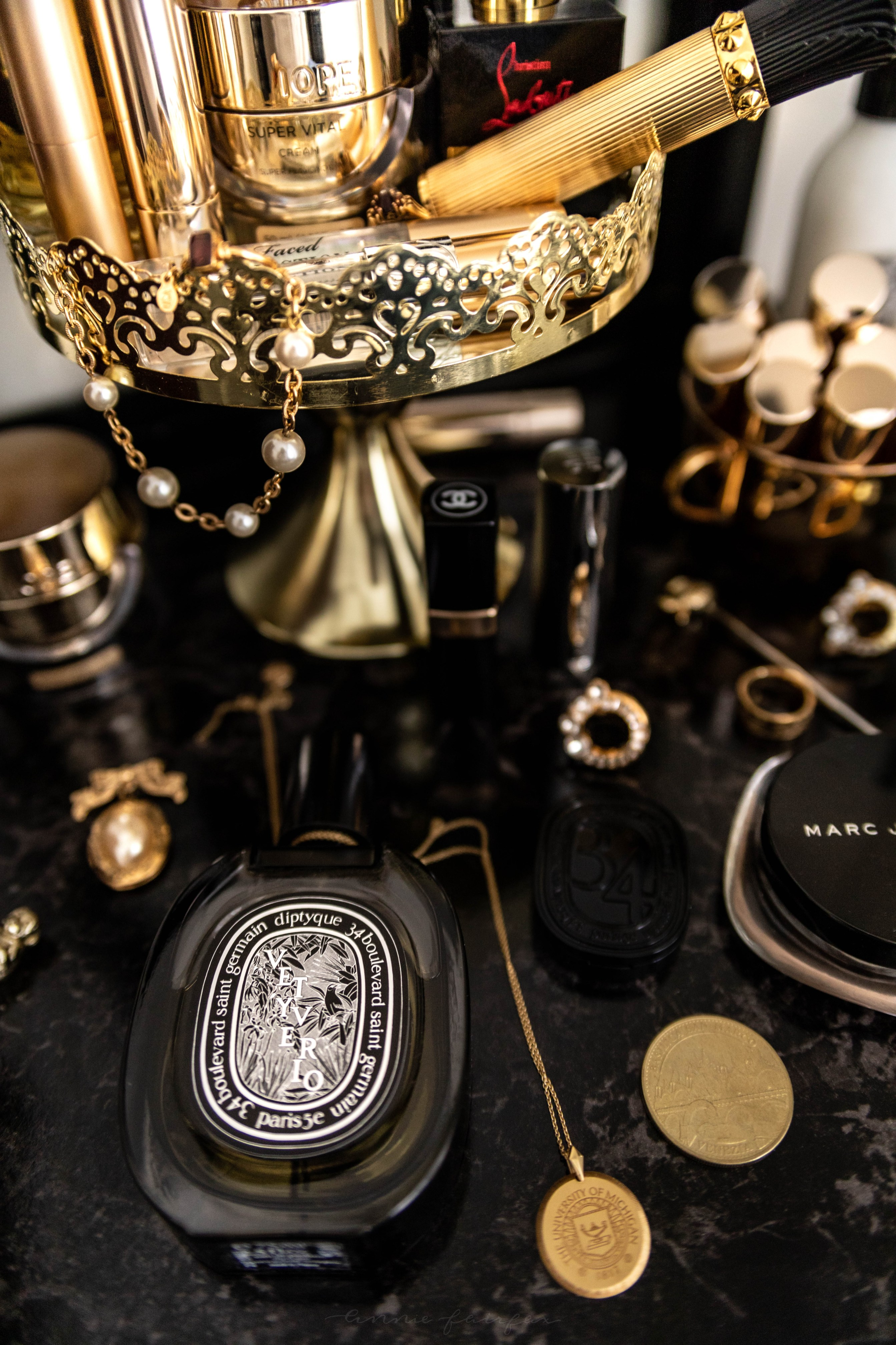 Luxury Beauty Favourites Diptyque, Chanel, Yves Saint Laurent, YSL, Marc Jacobs, Clarins, Iope, Too Faced, Guerlain, Christian Louboutin