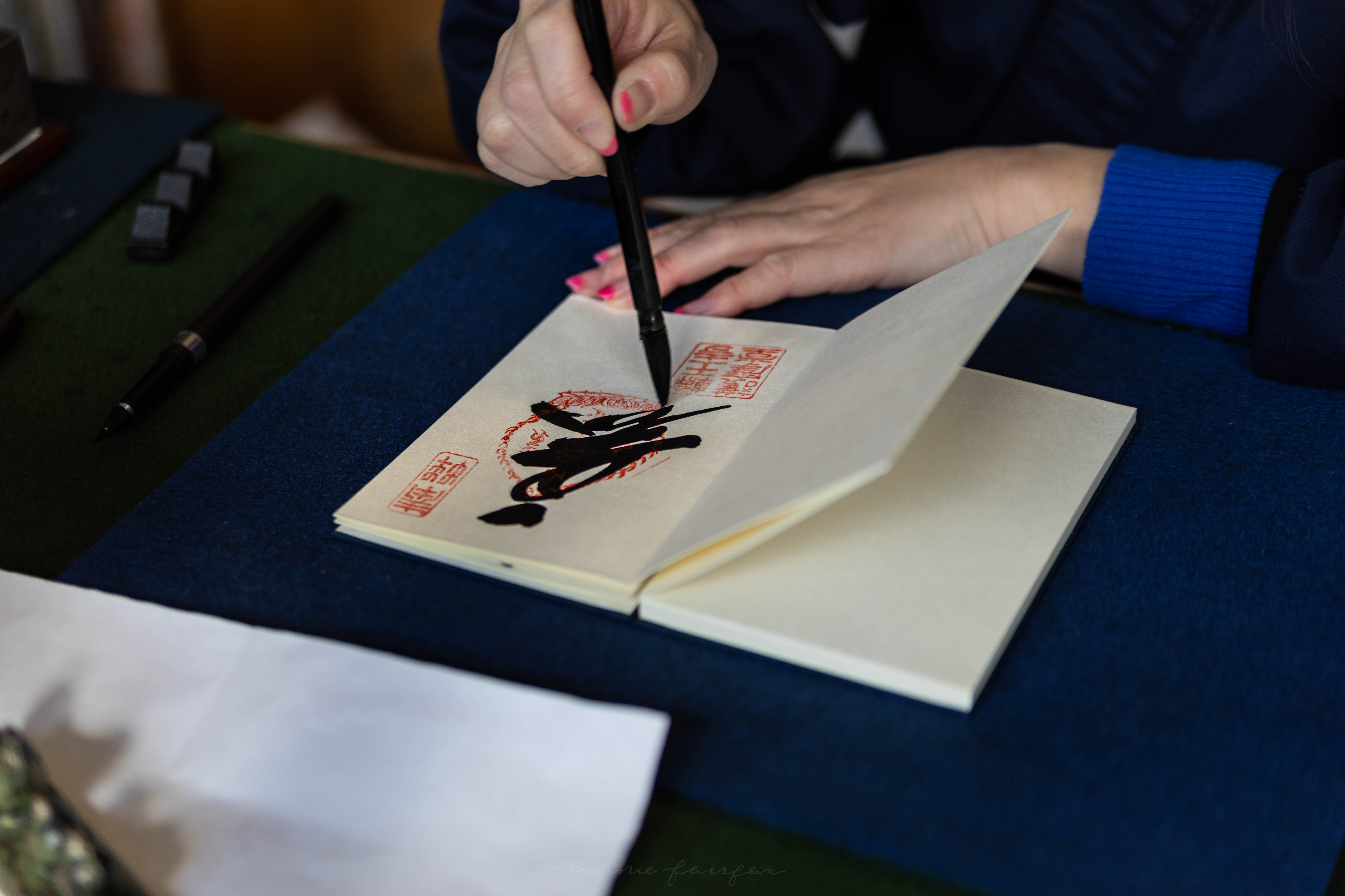 Goshiun Chou Japanese Temple and Shrine Stamp Book Calligraphy Souvenir Japanese Garden the Ultimate Travel Guide to Nikko, Japan Written, Researched, and Photographed by Annie Fairfax