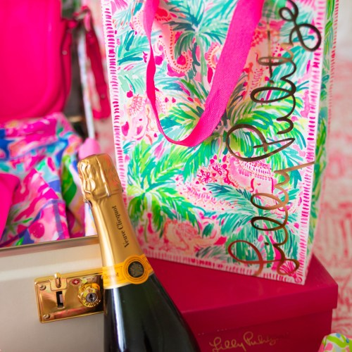 What to Pack for a Spring Getaway with Lilly Pulitzer Veuve Clicquot Champagne Spring Packing Ideas Bright Colorful Spring Summer Outfit Ideas Preppy Style
