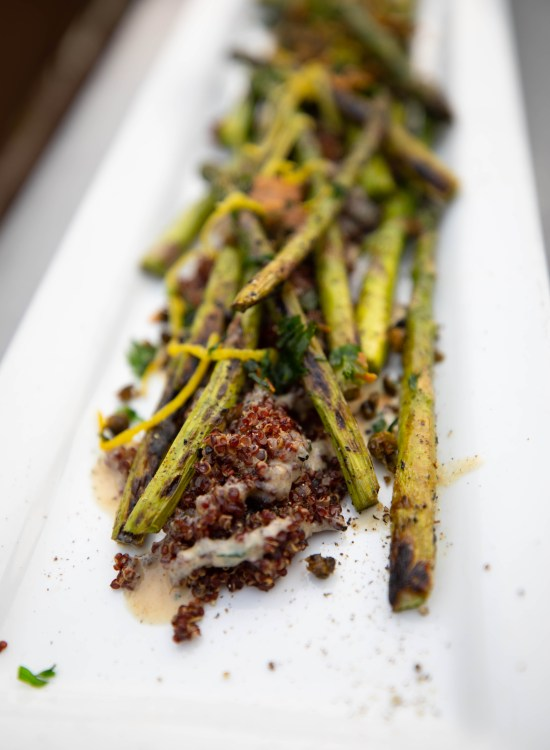 Grilled Asparagus Tinker Street in Indianapolis Luxury Restaurants of the World by Annie Fairfax