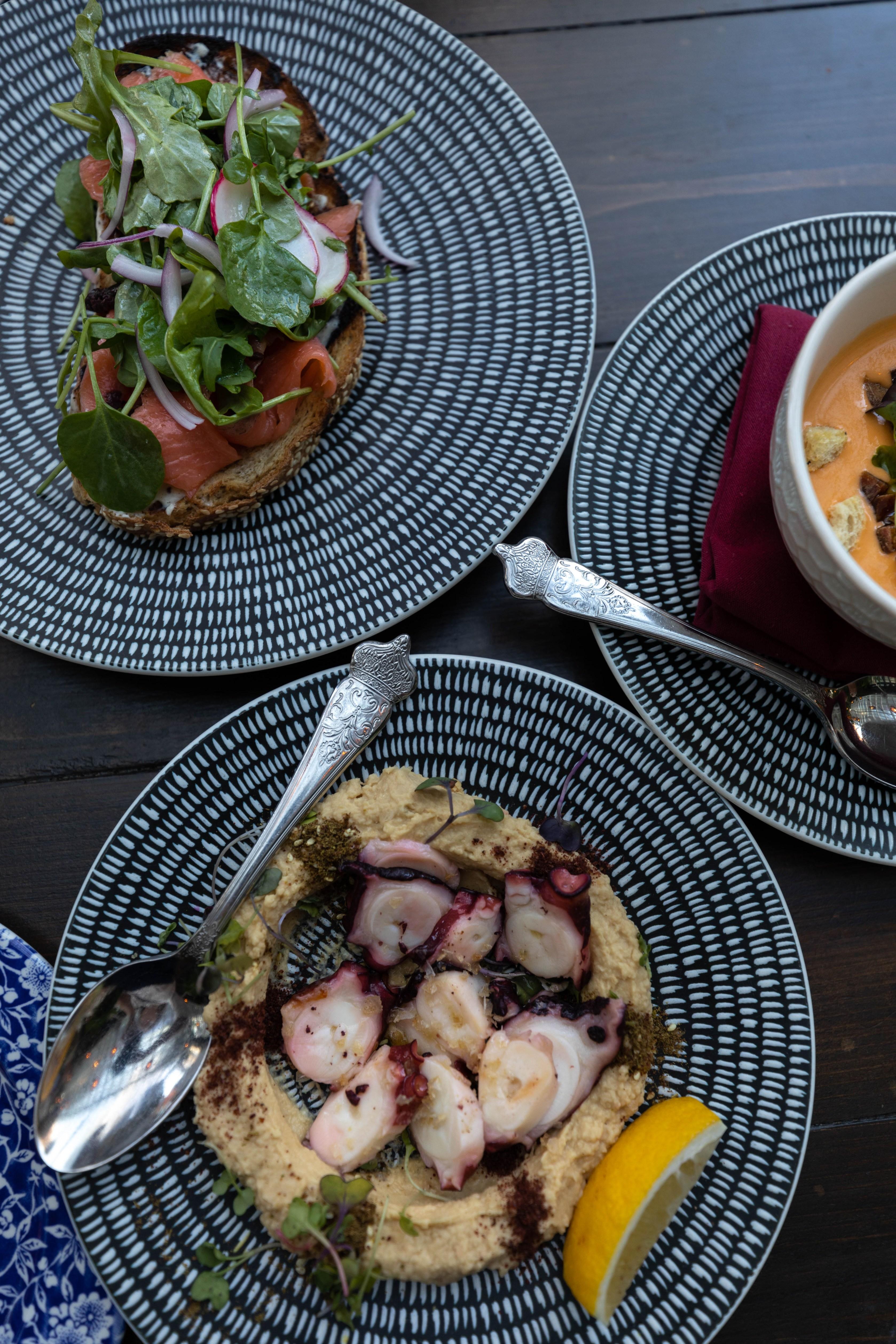 Beatnik on the River Chicago Mediterranean Luxury Fine Dining Restaurant Indoor Outdoor Seating