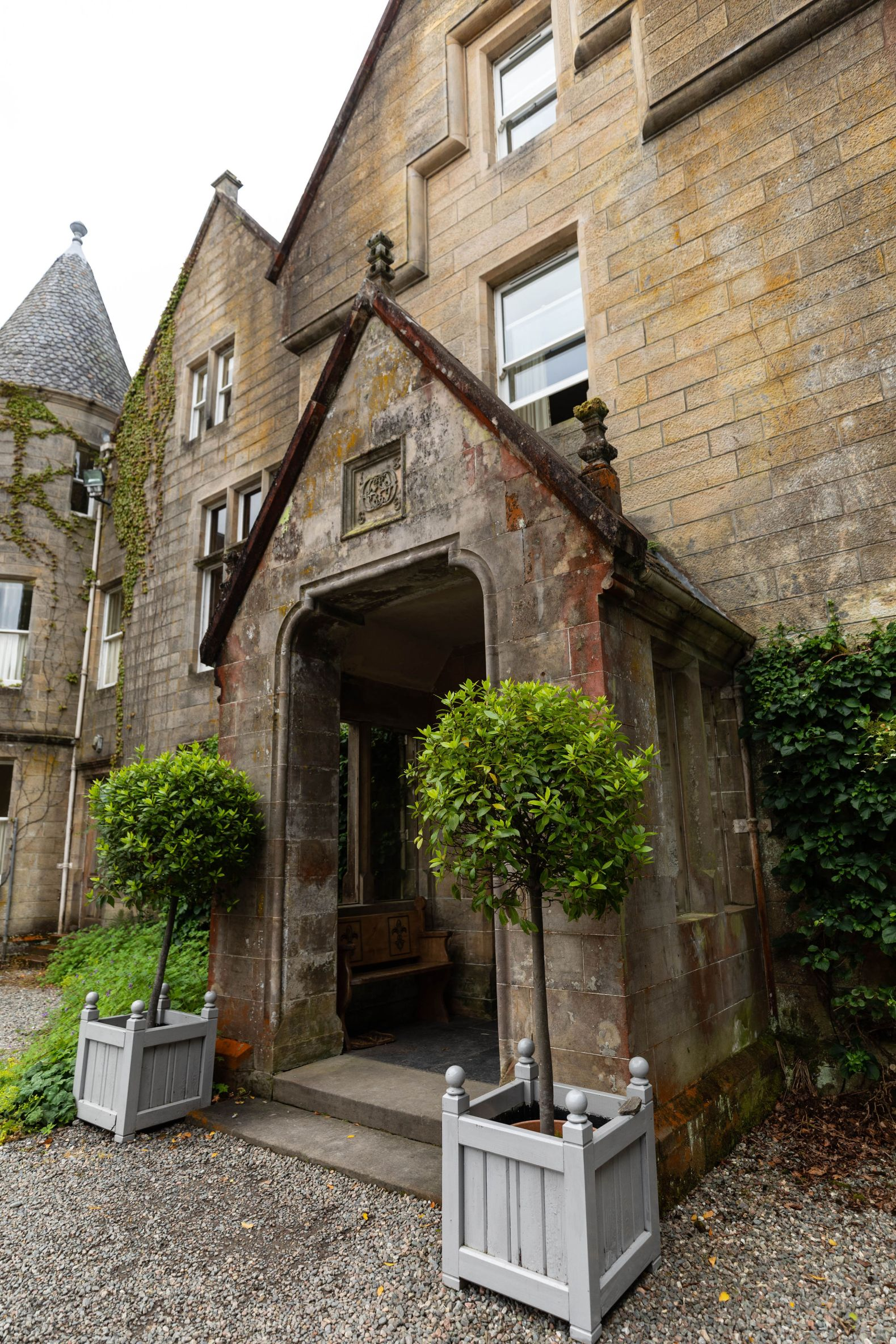 Glengarry Castle Hotel Entrance in Invergarry Scotland Hotels Near Loch Ness Inverness Isle of Skye by Annie Fairfax Luxury Hotels of the World