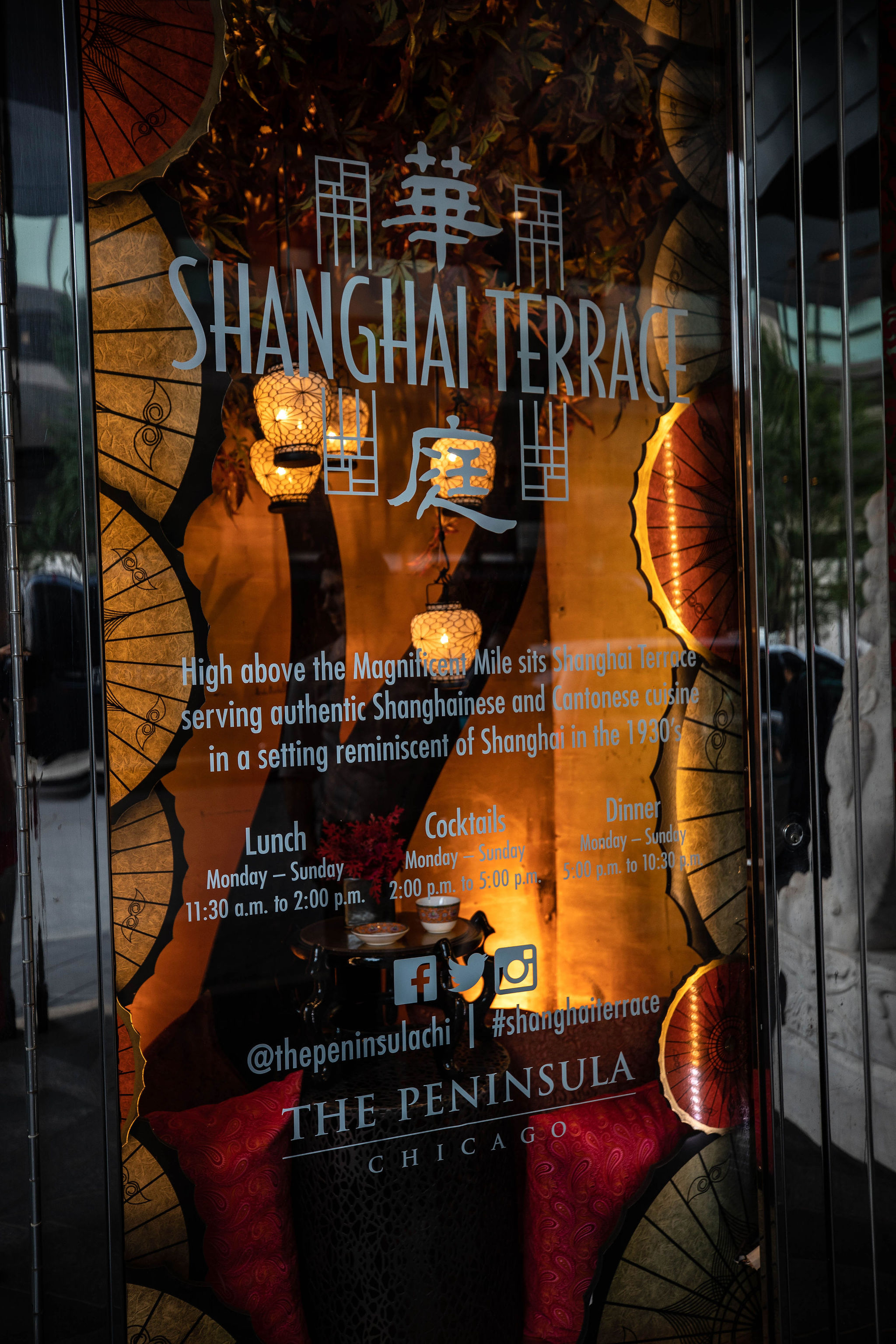 Shanghai Terrace Cantonese Delicacies Best Chinese Food in Chicago Award Winning Rooftop Dining Luxury Restaurants Midwest