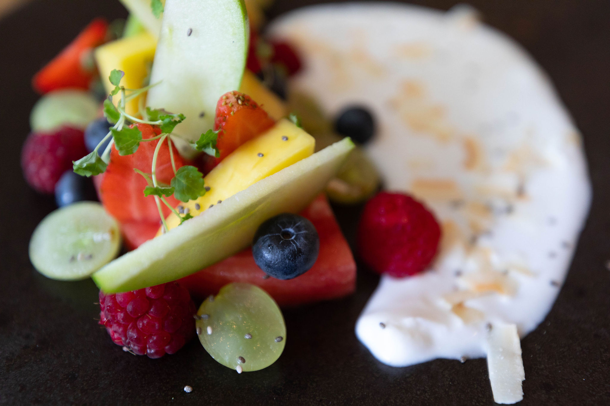 "Dairy-free coconut ""yoghurt"" at The Ivy in Edinburgh Food Vegetarian and Vegan Dining in Scotland"